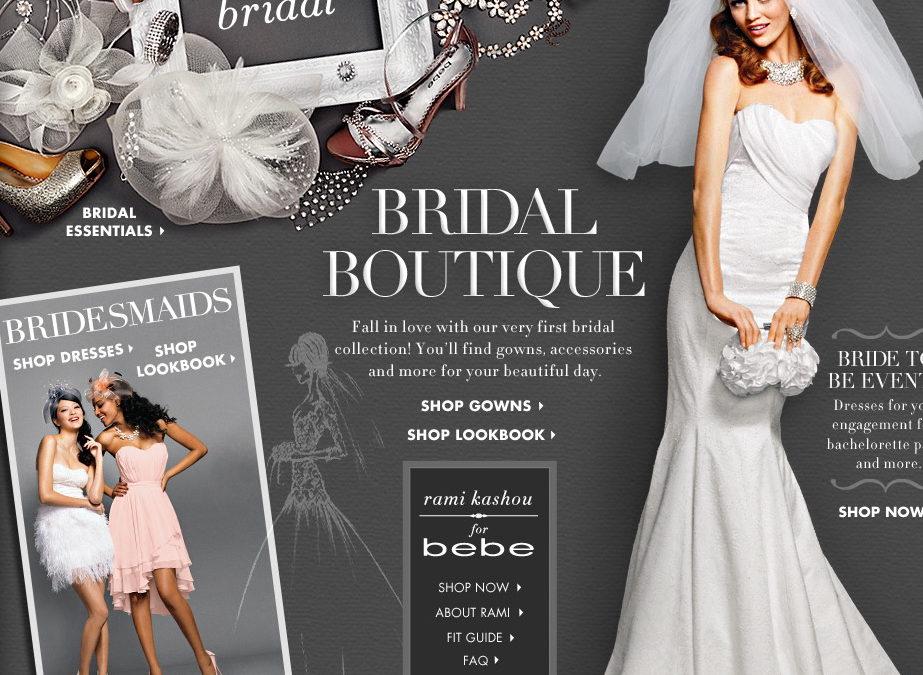 bebe Goes Bridal!!