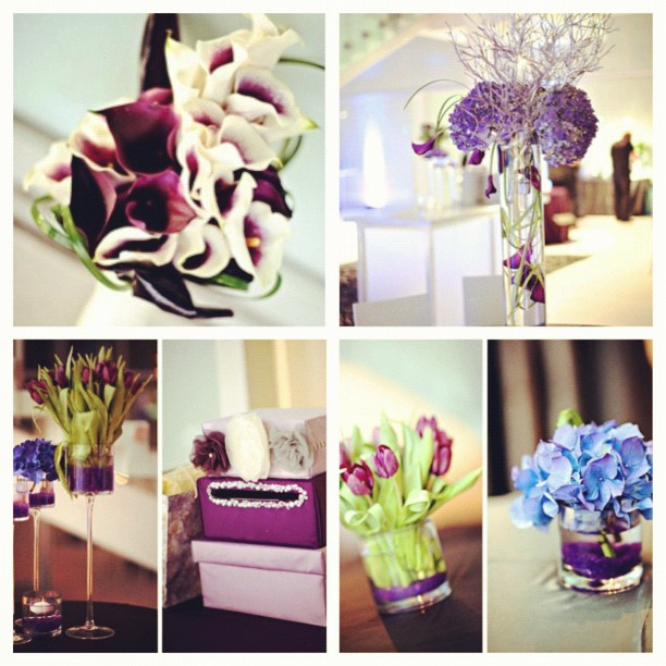 Wedding Color Palettes: Purple Weddings