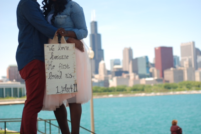 We Love Because He First Loved Us – Deanna & Darrius, Chicago, Illinois