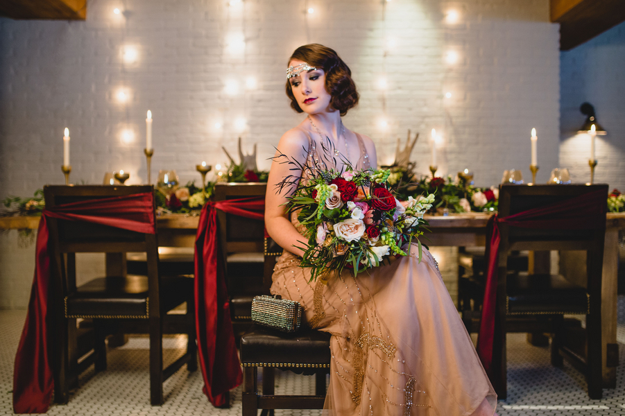 A Modern-Day Boardwalk Empire Bridal Styled Shoot, Edward Lai Photography
