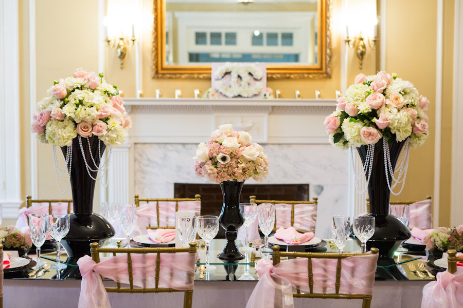 A Blush and Black Chanel Inspired Wedding Styled Shoot