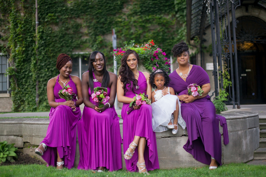 A Romantic Purple and Ivory Toronto Wedding