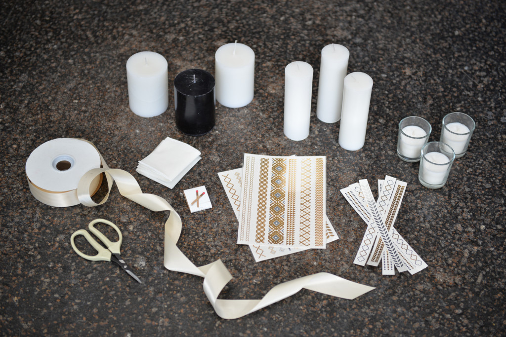 DIY Metallic Embellished Candles & Votives