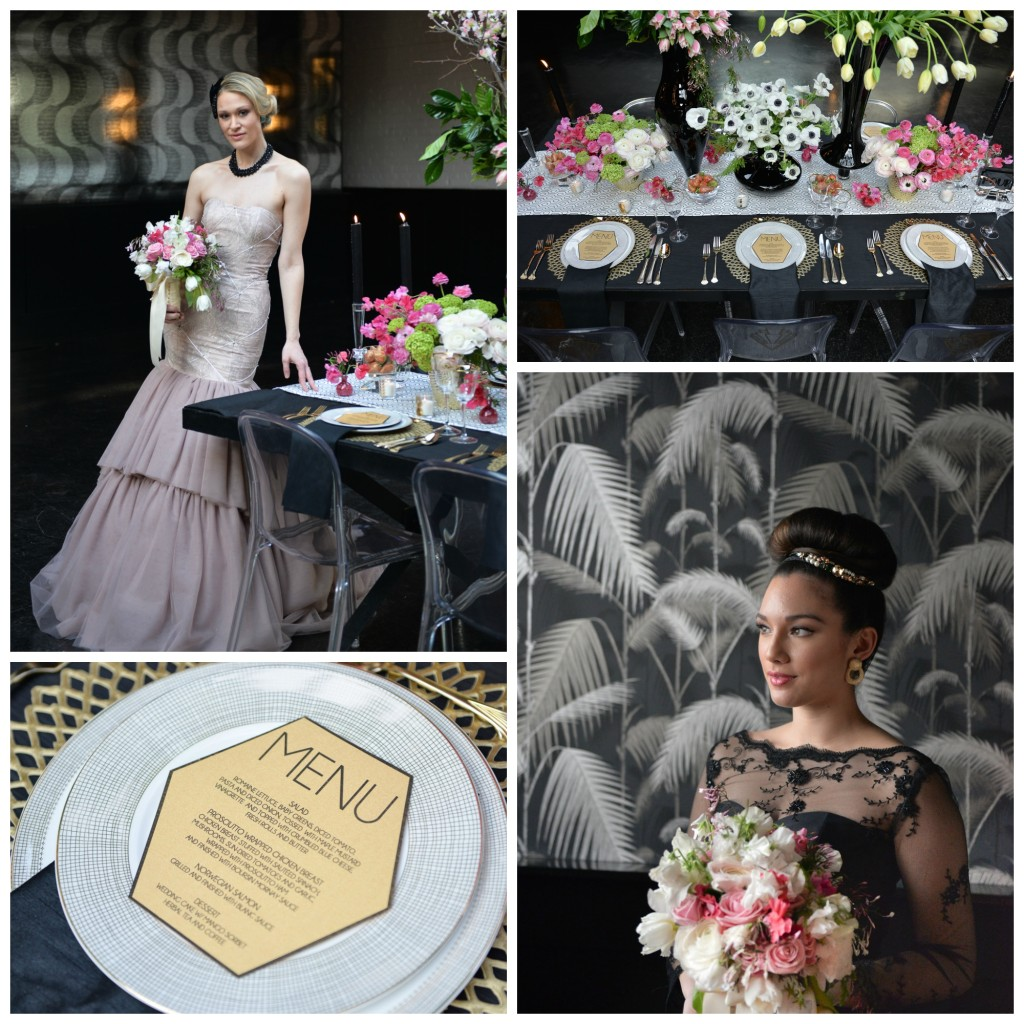 A Pink Art Deco Inspired Styled Shoot in Brooklyn