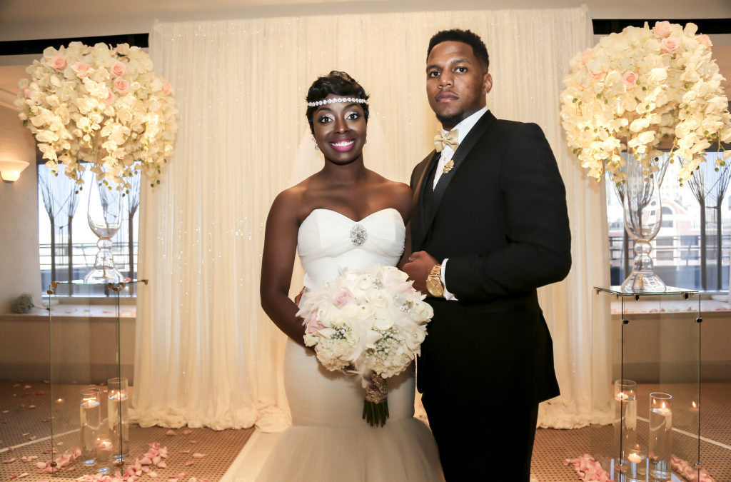 A Fairy Tale Wedding with Black, White, Gold & Cameo Pink