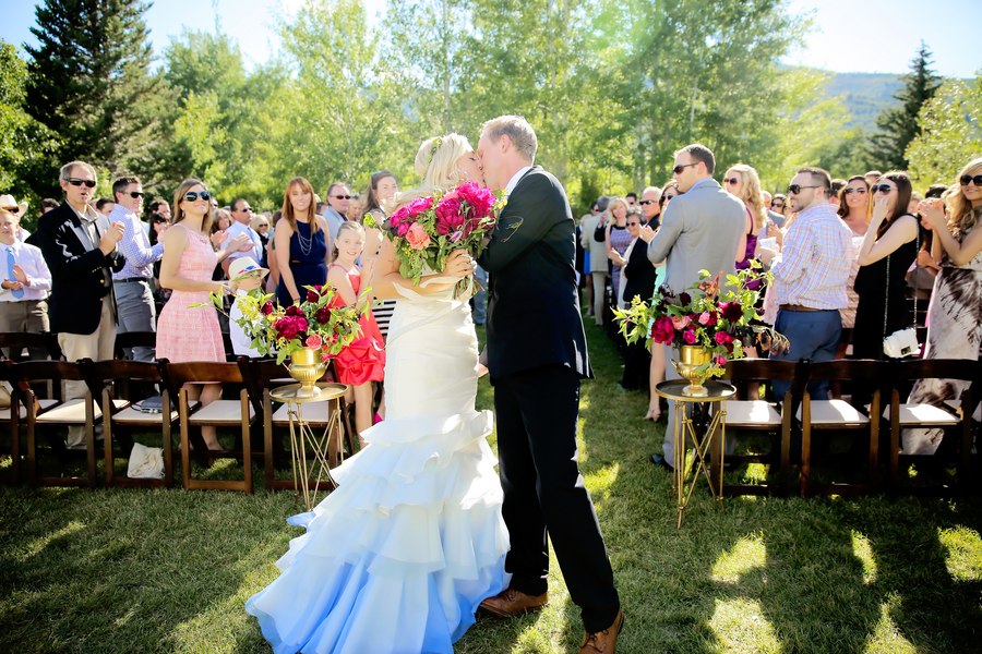 Summertime Shades of a Blue and Magenta Utah Wedding