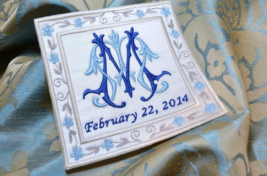 Enter to Win a Custom Embroidered Wedding Gown Label