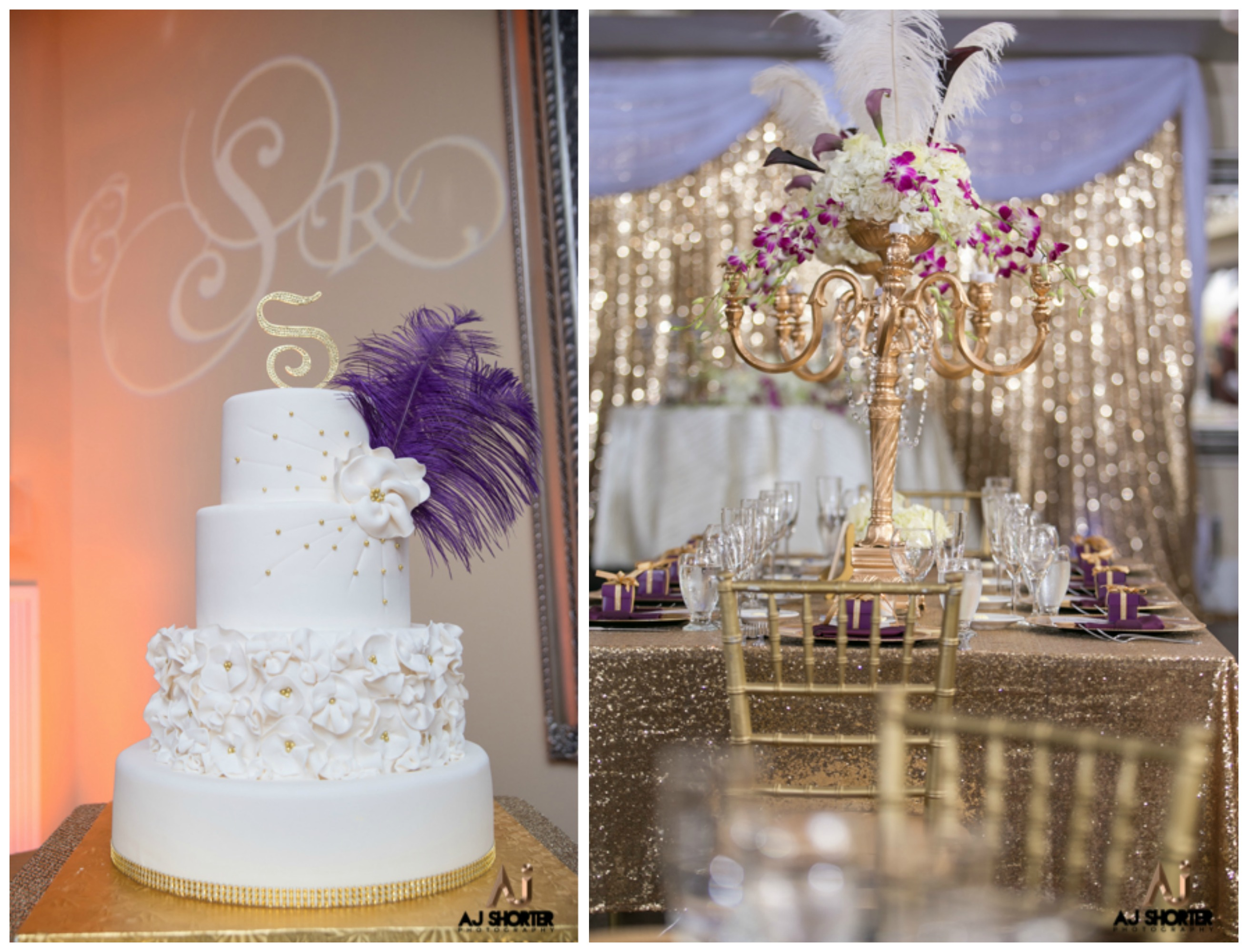 Purple and Gold Glam Great Gatsby Themed Wedding | The Coordinated Bride