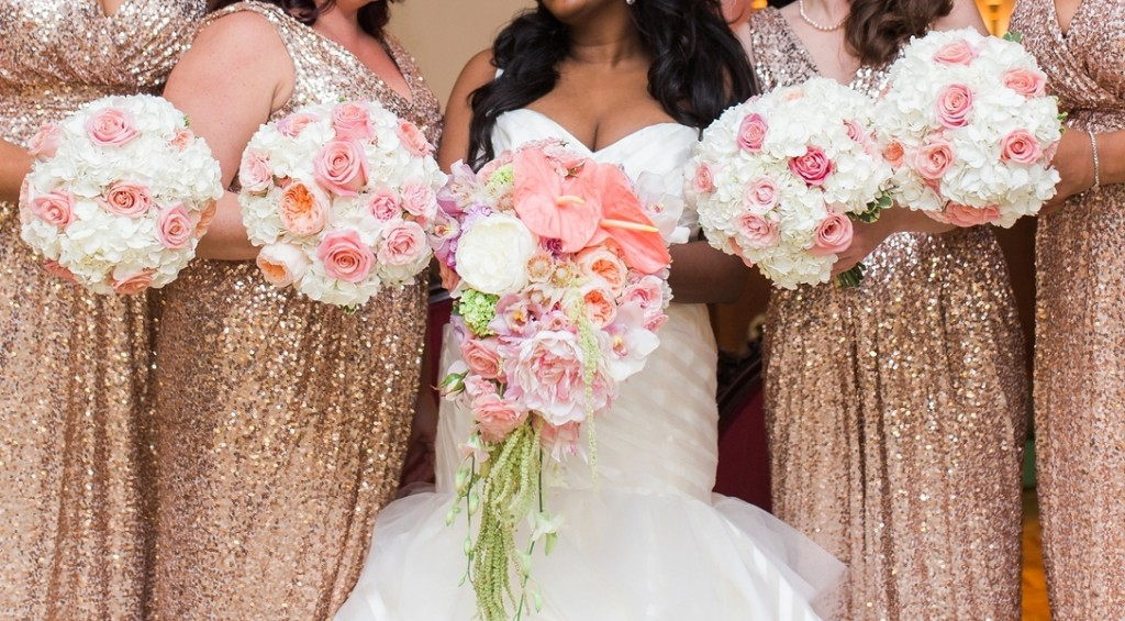 A Sequin Glam Wedding in North Carolina