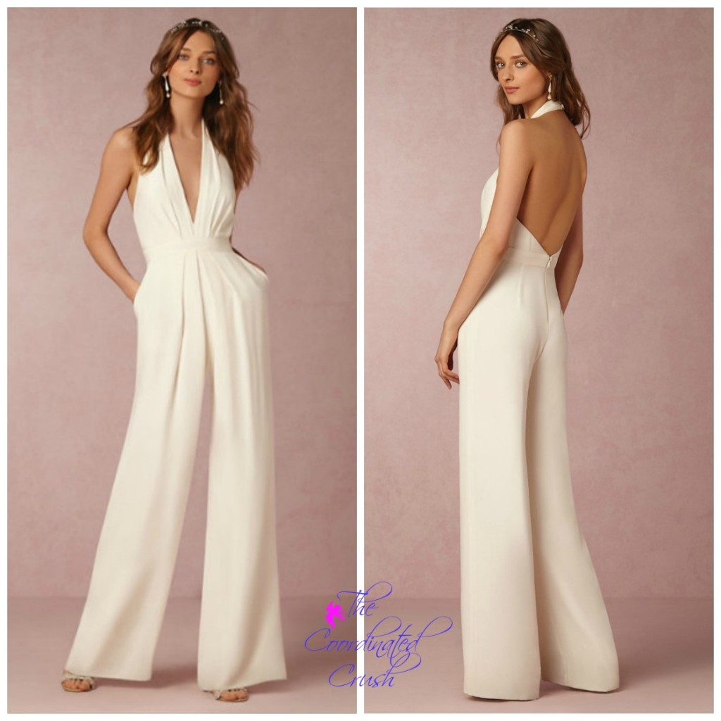 The Coordinated Bride BHLDN Mara Jumpsuit - Front and BackTCC