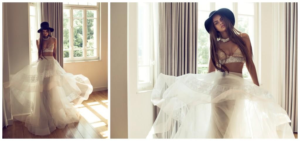 The Coordinated Bride and Zahavit Tshuba Nora top_Mona skirt