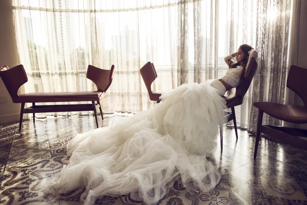 The Coordinated Bride and Zahavit Tshuba Tara skirt Yael top