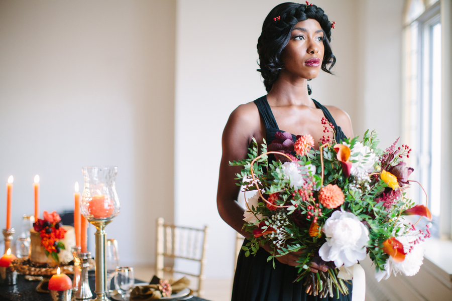 Dark Romance, A Chic Winter Inspired Styled Shoot