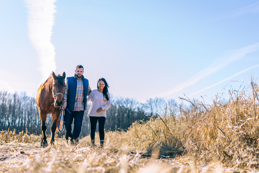 A Rustic New Jersey Horse Farm Engagement Session
