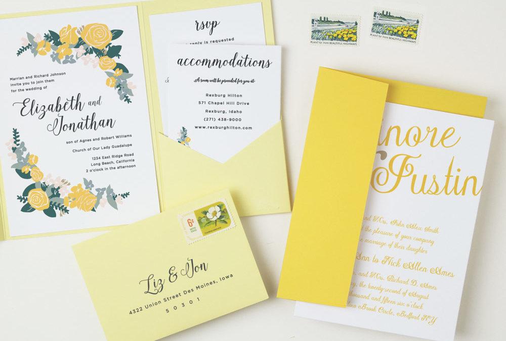Stylish Wedding Stationery from Basic Invite