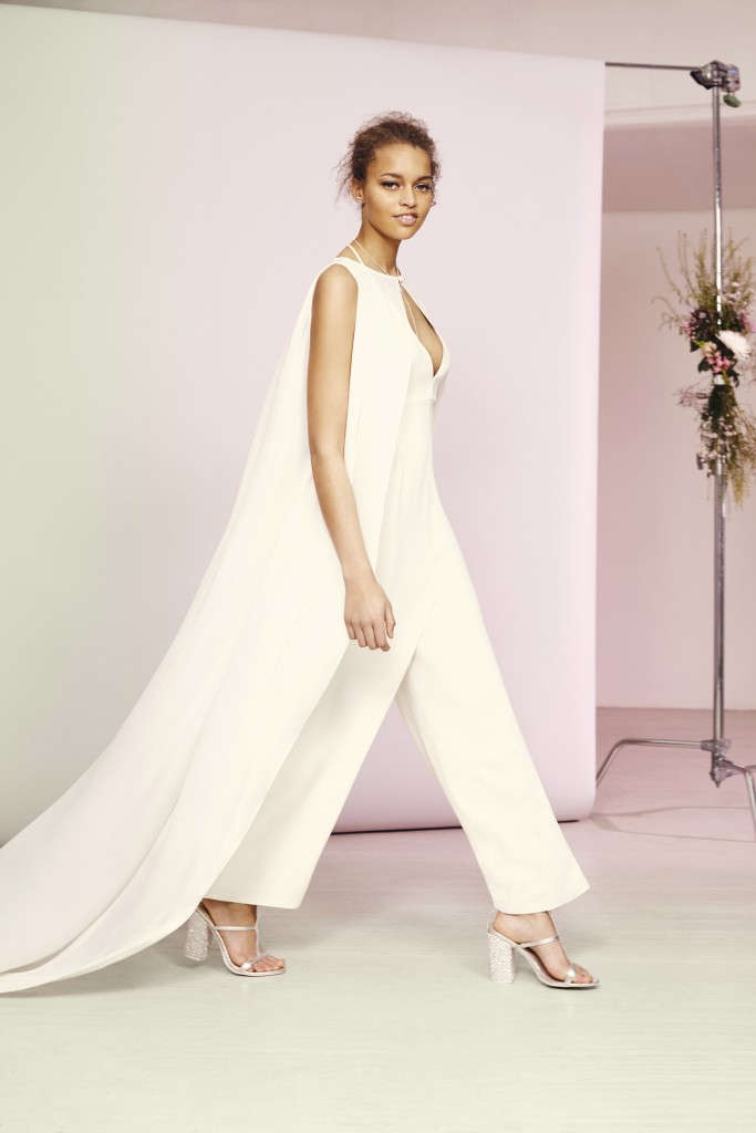 ASOS Bridal Jumpsuit with Cape Overlay u¦ü150 Live 14.03