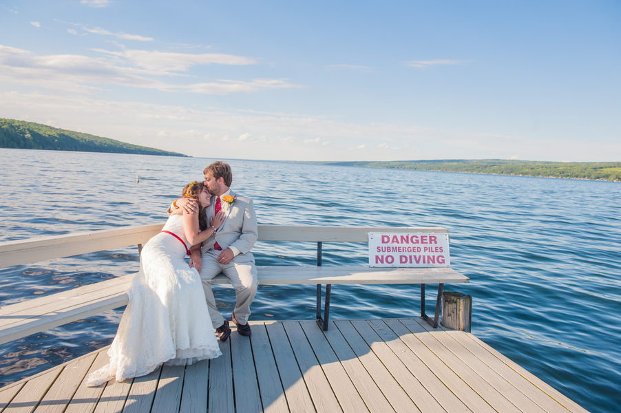 A Romantic Lakeside Waterfall Wedding