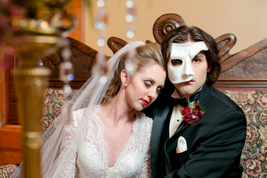 Phantom of the Opera Inspired Styled Shoot