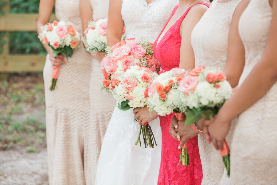 Coral and Gold Elegant Wedding at The Regent