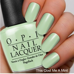 The Coordinated Bride OPI 2016 This Cost Me A Mint