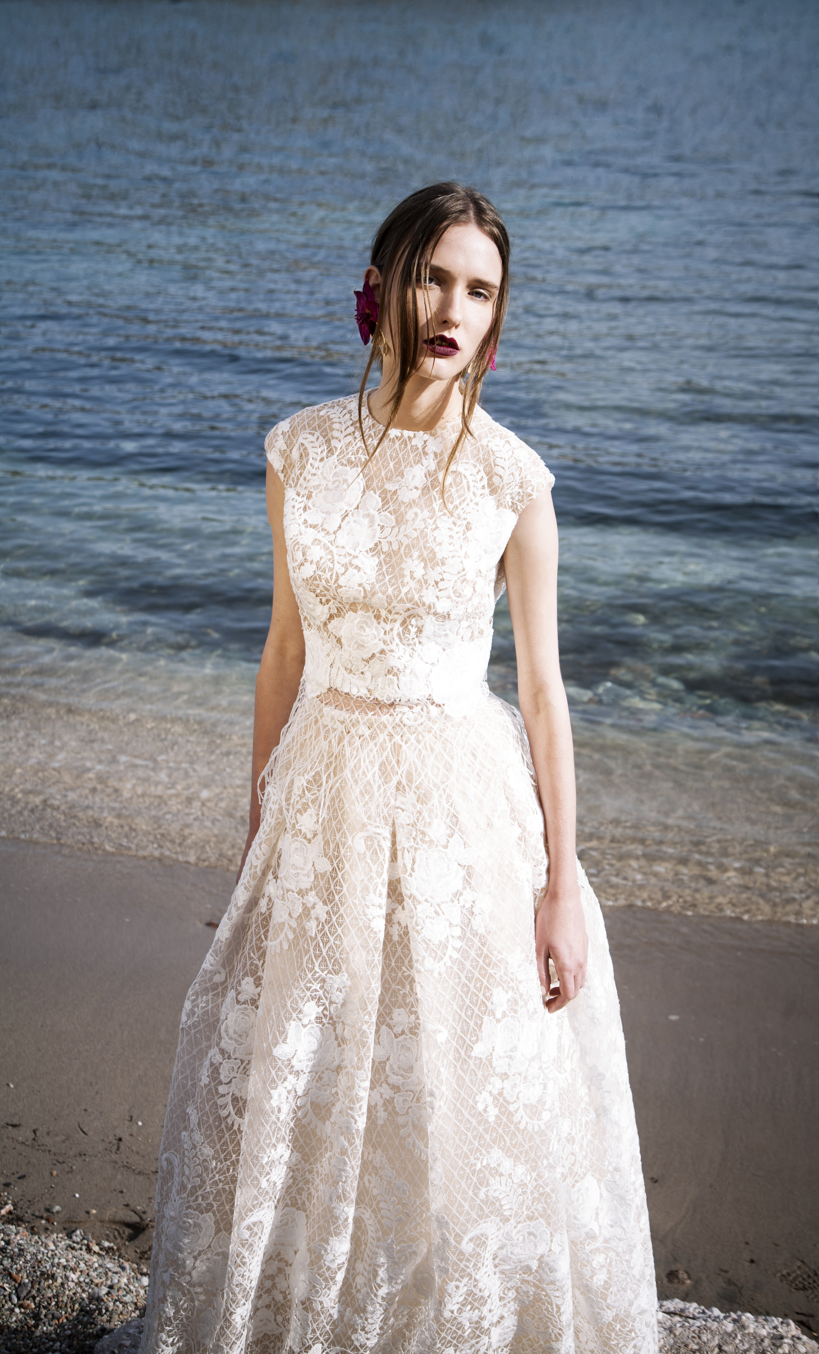 The Coordinated Bride and Christos Costerellos BR17 17 TOP   SKIRT ... 2438a2e30ad