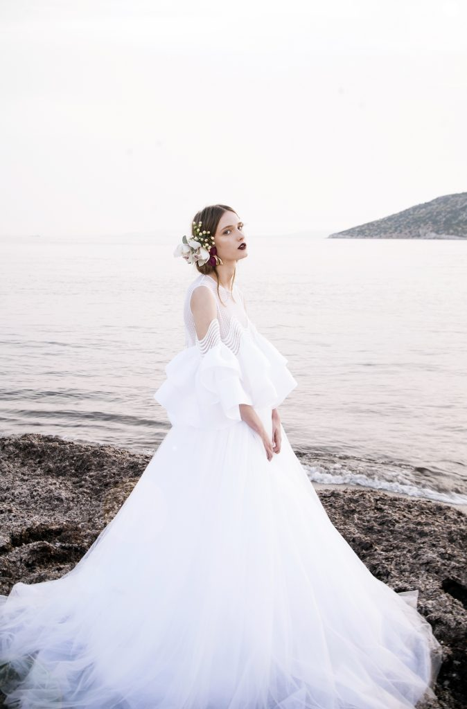 The Coordinated Bride and Christos Costerellos BR17 22 TOP & BR17 51 SKIRT (2)