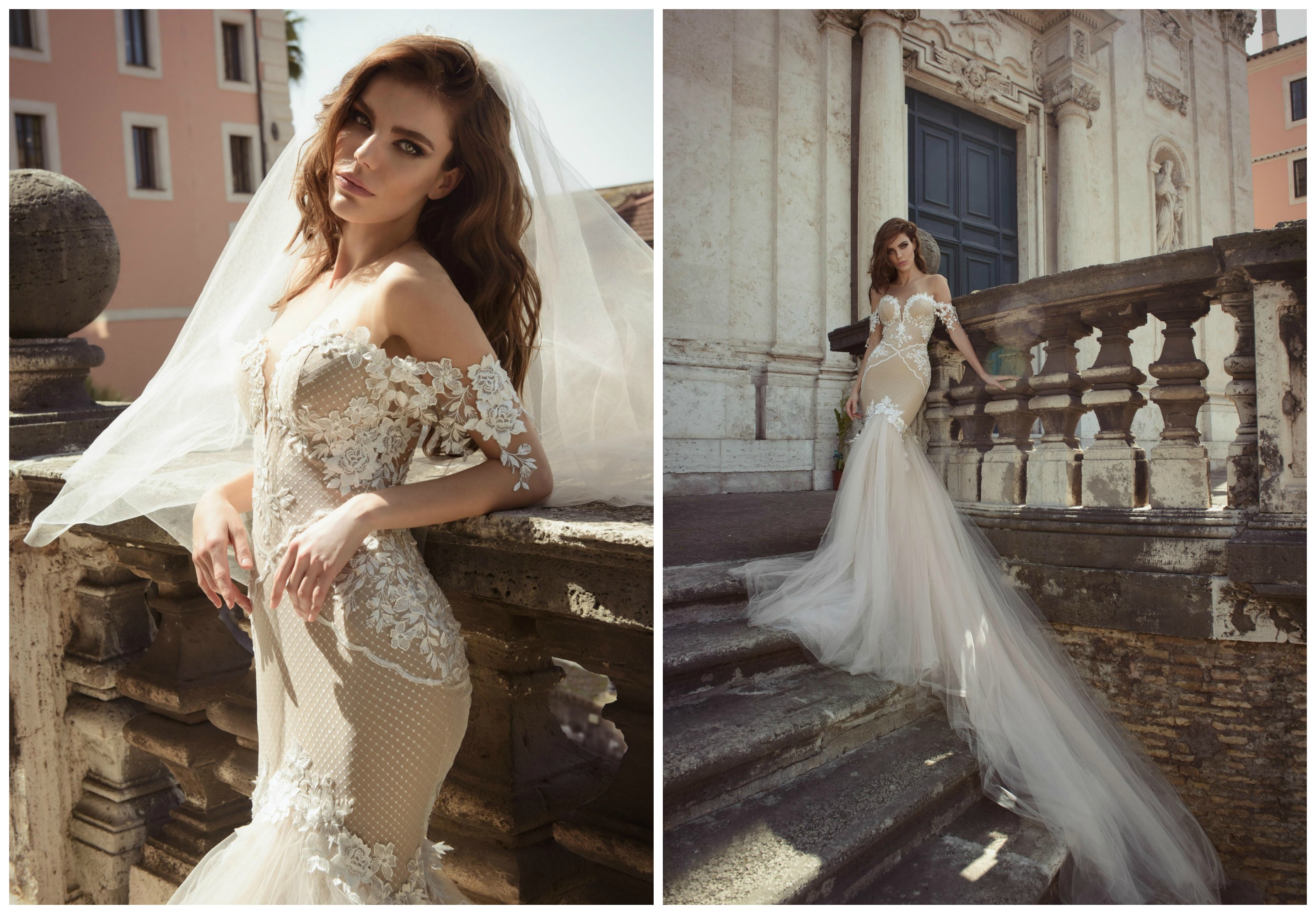 The Bridal Collection Real Bride: Julie Vino Bridal Roma Collection