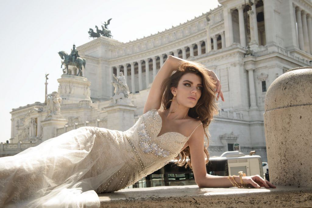 The Coordinated Bride and Julie Vino Roma Collection 1107 Vita 1