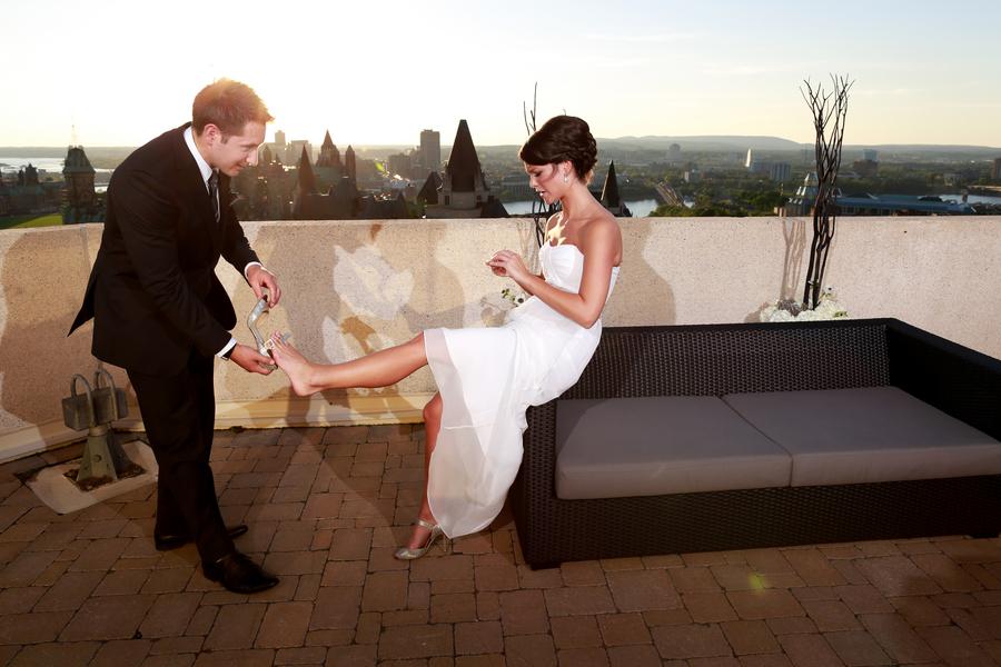 Wedding of Michelinne and Darren at the Ottawa Westin in Ottawa September 6, 2012. Photo by Blair Gable