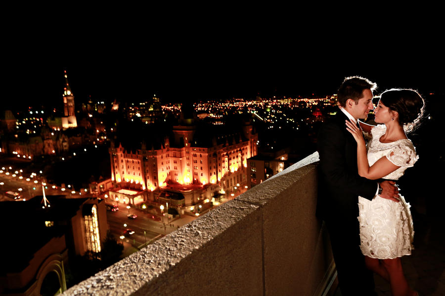 A Romantic Rooftop Elopement in Canada, Michelinne and Darren