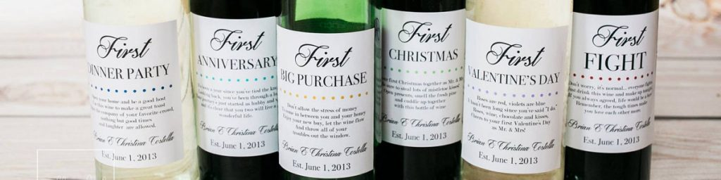 Enter to Win!! 6 Marriage Milestone Wine Labels!