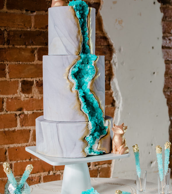 A Geode Inspired Wedding Shoot