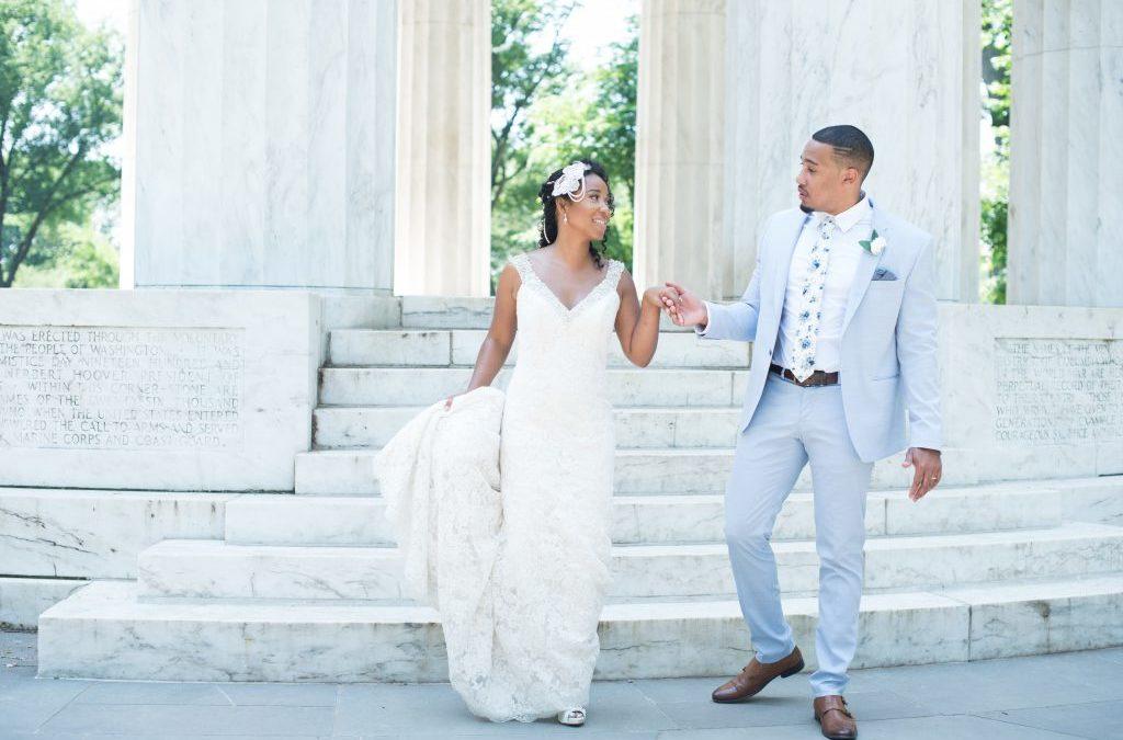 DC War Memorial Wedding, Angelica and Daneal