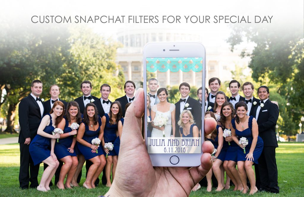 ENTER TO WIN!! Custom Wedding Snapchat Filters from MY WEDDING FILTER