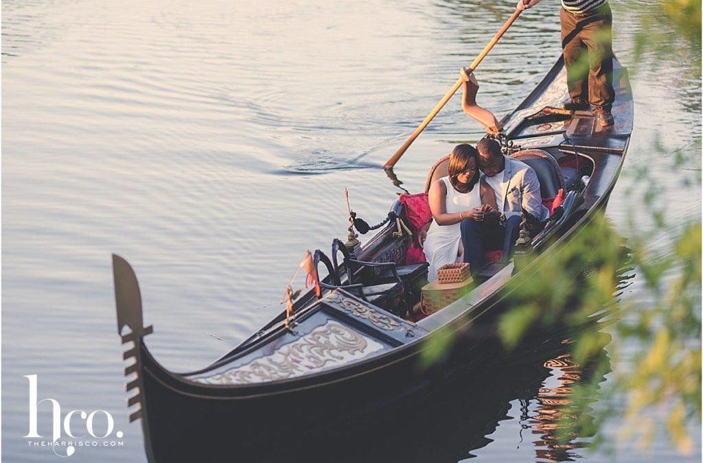 Boston Gondola Ride Engagement Shoot