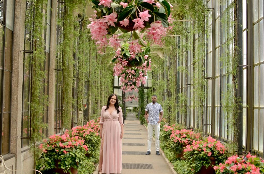 A Pennsylvania Engagement Shoot at Longwood Gardens, Nicole and Antez