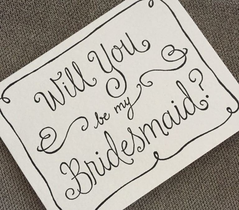 GUEST BRIDE BLOGGER Oniki {JE #2} Will You Be My Bridesmaid?