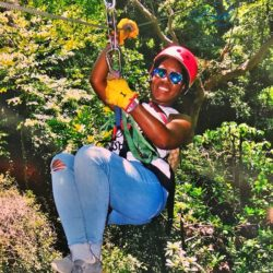 The Coordinated Bride Zip Lining in Costa Rica