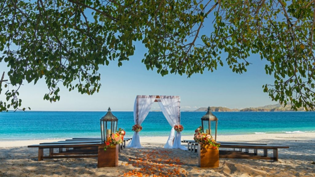 Westin Playa Conchal Costa Rica Beach Ceremony Set up