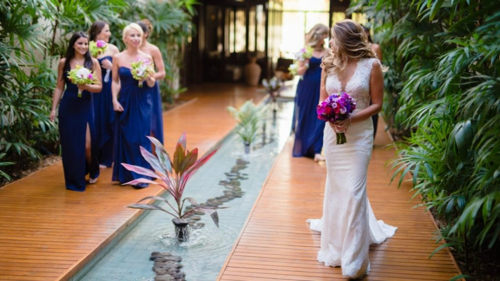 Westin Playa Conchal Costa Rica Bride with her bridesmaids - Spa