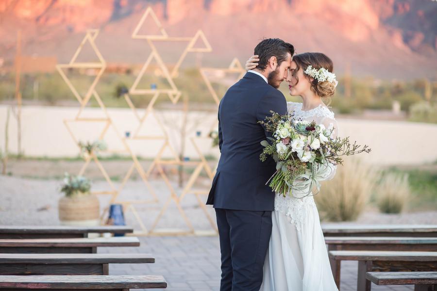 Southwest Geometric Wedding Inspiration
