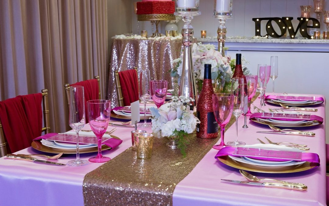 Red, Pink and Gold Styled Shoot – Pamela Hewlett Events