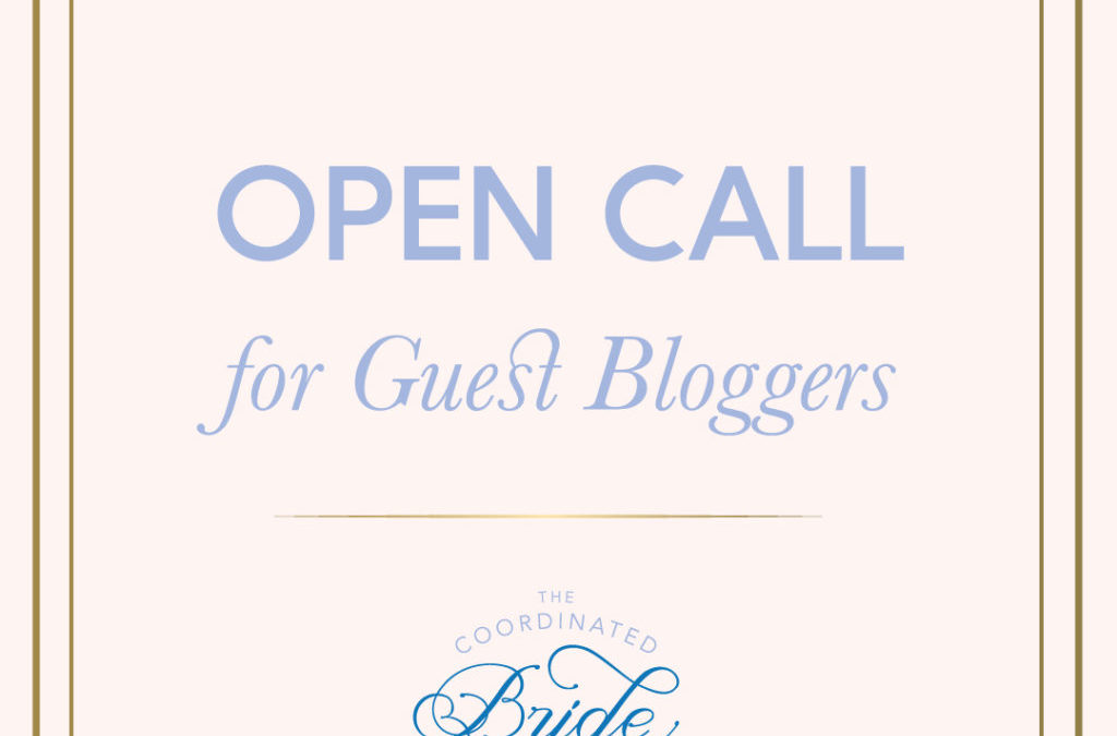 Become a 2017 Guest Bride Blogger