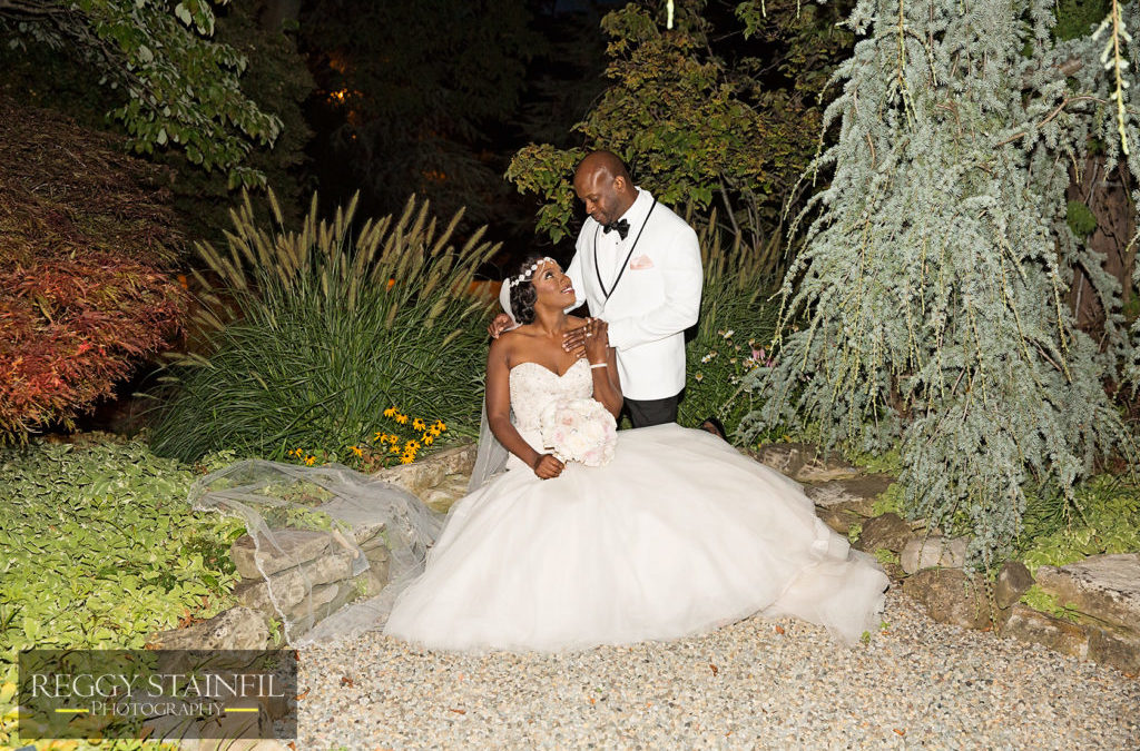 Ivory, Blush, Black and Gold Glam New Jersey Wedding