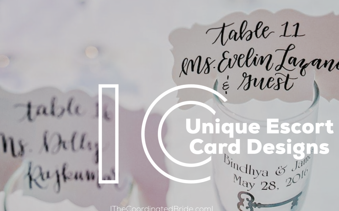 Coordinated Conversations: 10 Unique Escort Card Designs