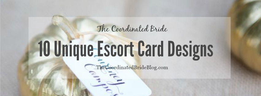 10 Unique Escort Card Designs