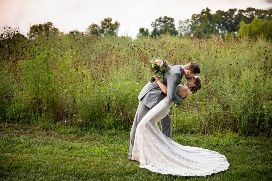 A Blush and Champagne Sunset Wedding at The Arbors
