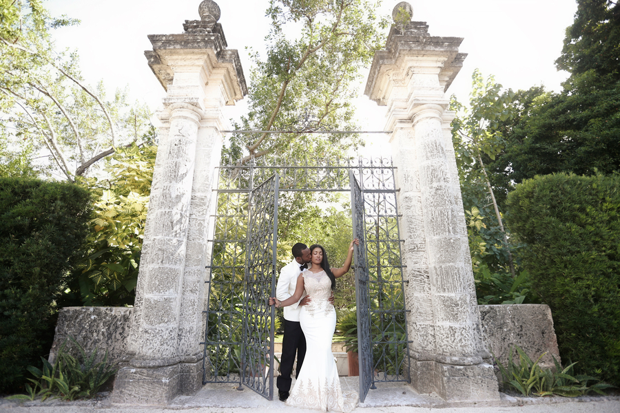 A Vizcaya Museum & Gardens Engagement Shoot- Shayna and Marcel