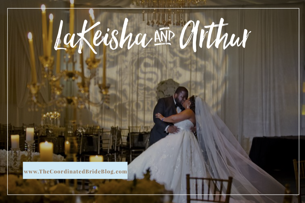 A Lavish Ivory, Black & Gold Wedding in Flordia