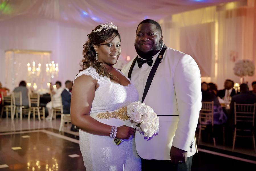 A Lavish Ivory, Black & Gold Wedding in Florida